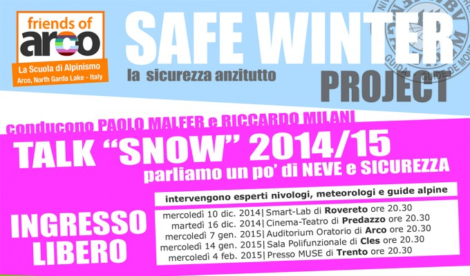 SAFE WINTER PROJECT | La sicurezza anzitutto.